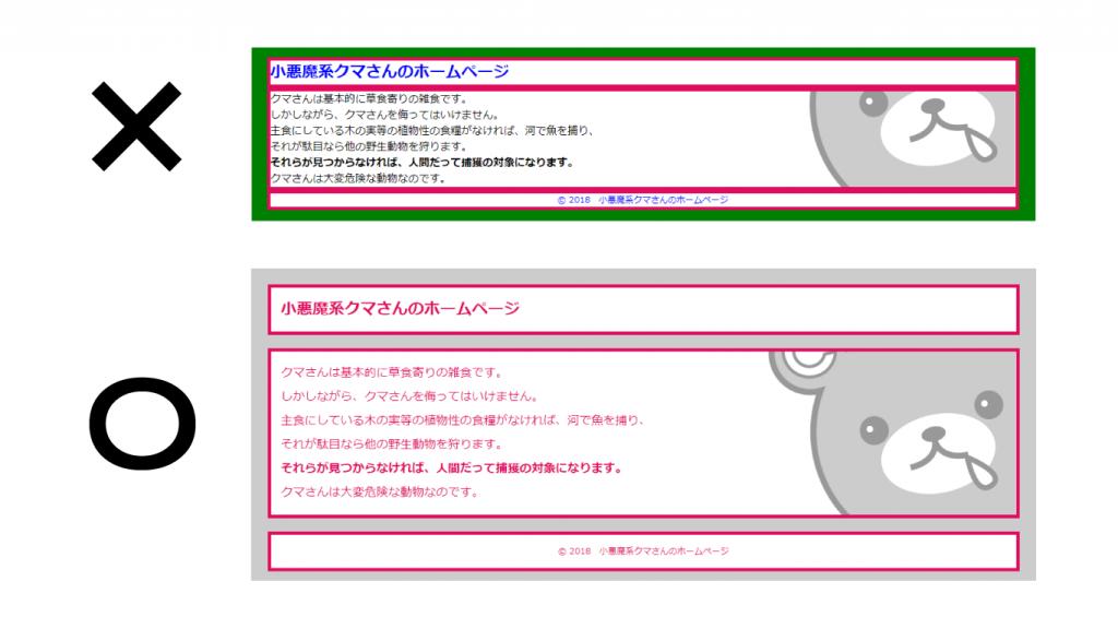それなりに綺麗に見えるホームページの作り方の例